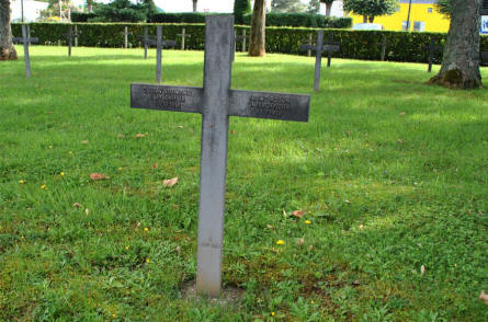 One of the many German World War I graves at the Briey German War Cemetery.