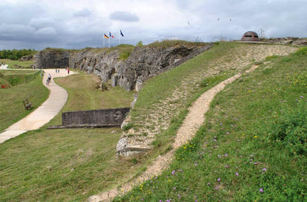The French side of the World War I Fort de Douaumont outside Verdun.