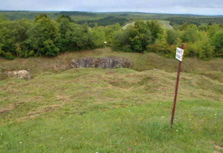 A huge trench was one of the things that protected the World War I Fort de Douaumont outside Verdun.