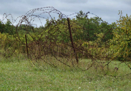 Barbed wire was one of the things that protected the World War I Fort de Vaux - outside Verdun.