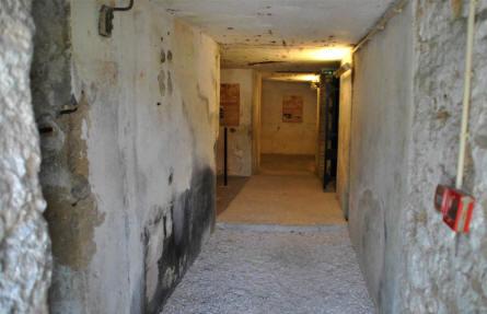 A view inside one of the corridors at the Fort de Vaux - outside Verdun.