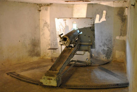 One of the canons at the Fort de Vaux - outside Verdun.