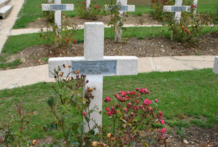 Some of the many French World War I graves at the Douaumont Ossuary & Cemetery outside Verdun - the grave at the front is for a soldier that was killed on the 31st of October 1916.