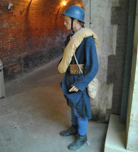 A French World War I soldier displayed at the Verdun Underground Citadel.