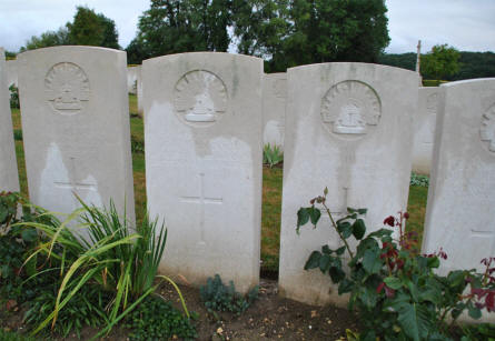 "Some of the many ""known"" Australian World War I graves at the Adelaide Cemetery in Villers-Bretonneux - just east of Amiens."