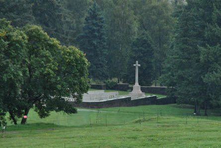 The World War I cemetery at the Beaumont-Hamel Newfoundland Memorial. Due to heavy rain the cemetery was not visited during our visit to the area.