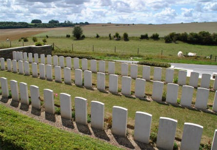 The Bray Vale British Cemetery at Bray-sur-Somme is located in a beautiful rural countryside.