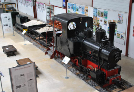 One if the vintage steam trains displayed at the Petit Train Haute Somme & Narrow Gauge Railway Museum.