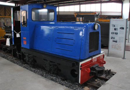 One if the vintage trains displayed at the Petit Train Haute Somme & Narrow Gauge Railway Museum.