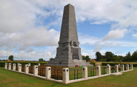The 1st Australian Division Memorial near Pozières.