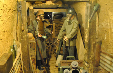Some of the German World War I soldiers displayed at the Somme Trench Museum - Somme 1916 - in Albert.