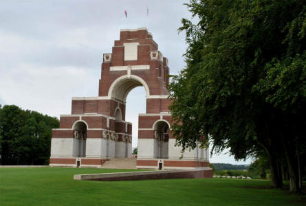 The Thiepval Memorial - designed by Sir Edwin Lutyens.