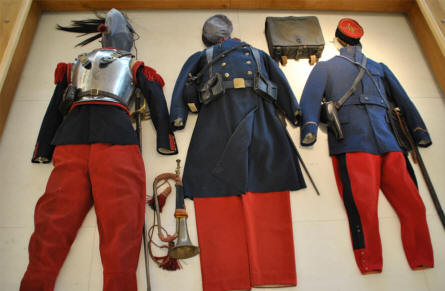 A French World War I uniform displayed at the Museum of the Great War 1914-1918 in Péronne.