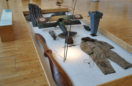A World War I air force uniform displayed at the Museum of the Great War 1914-1918 in Péronne.