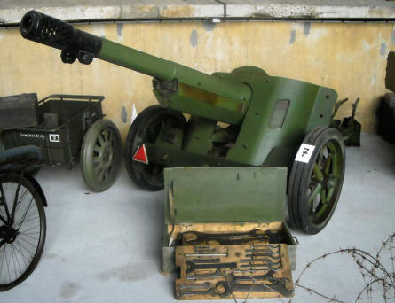One of the German World War II anti-tank guns displayed at the Atlantic Wall Museum - Battery Todt in Audinghen.
