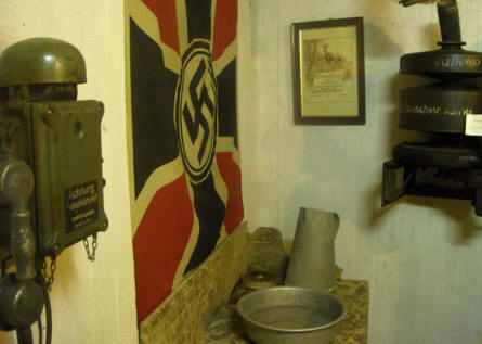 Some of the German World War II bunker equipment displayed at the Atlantic Wall Museum - Battery Todt in Audinghen.