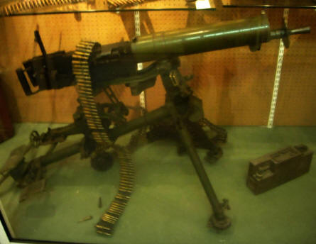 One of the World War II machine guns displayed at the Calais War Museum.