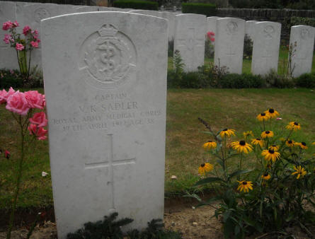 Some of the British World War I graves located on the St Nicolas British Cemetery near Arras.