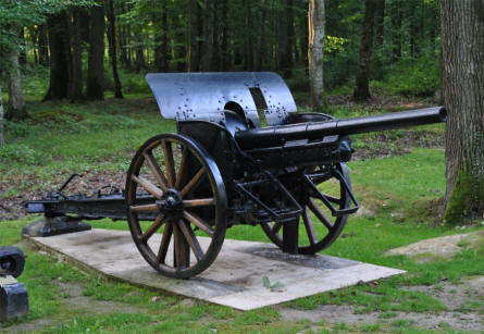 A World War I canon at the Belleau Wood Memorial - north west of Château-Thierry.