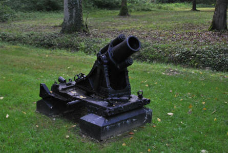 A World War I mortar at the Belleau Wood Memorial - north west of Château-Thierry.
