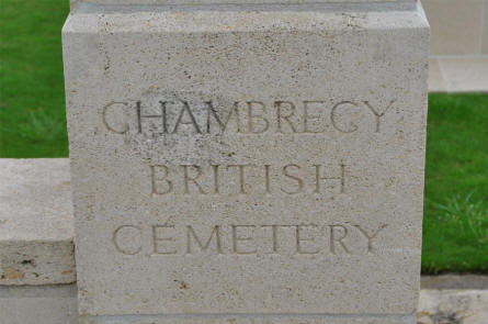 A part of the entrance to the Chambrecy British Cemetery.