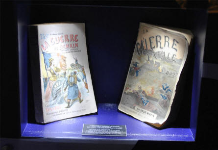 Some World War I books displayed at the Museum Marne 14-18 in Suippes.