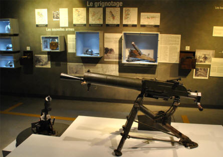 A World War I machine gun displayed at the Museum Marne 14-18 in Suippes.