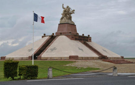 The World War I Navarin Monument just outside Suippes.