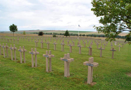 The Sommepy French War Cemetery outside Suippes.