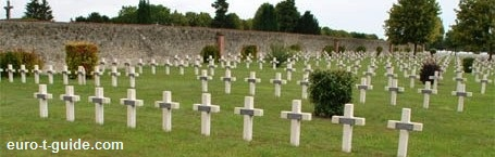 Suippes French War Cemetery -  World War I Memorial - European Tourist Guide - euro-t-guide.com