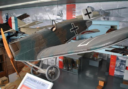 A German World War I fighter displayed at the Le Bourget Museum of Air & Space in Paris.