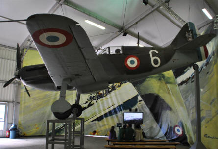A French World War II fighter displayed at the Le Bourget Museum of Air & Space in Paris.
