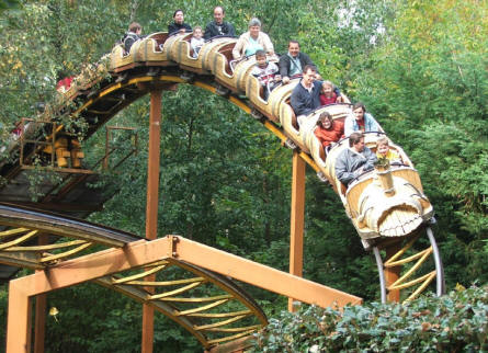 One of the many roller coasters at Parc Asterix near Paris.