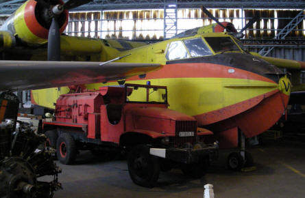 A Canadair CL-215 water-bomber (fire fighting) at the CAEA Aircraft Collection.
