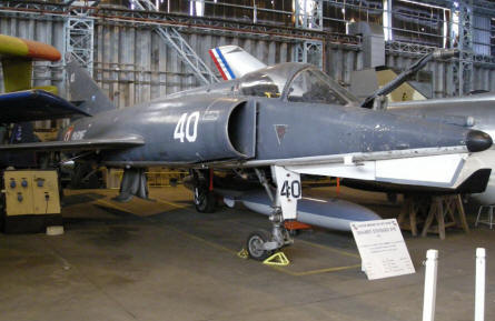 A French Etendard IV M naval fighter/bomber at the CAEA Aircraft Collection.