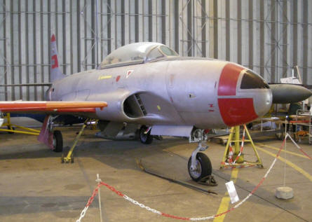 A Lockheed T-33A T-bird fighter/trainer at the CAEA Aircraft Collection.
