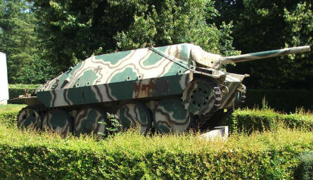 A German World War II Hetzer tank destroyer outside the Bayeux D-day Museum.