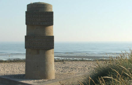 One of the many D-day memorials that you find at the D-day beaches.