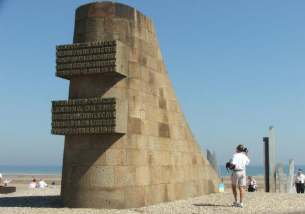 "A ""classic"" D-day memorial at Omaha Beach. You find a lot of these memorials along the D-day coast."