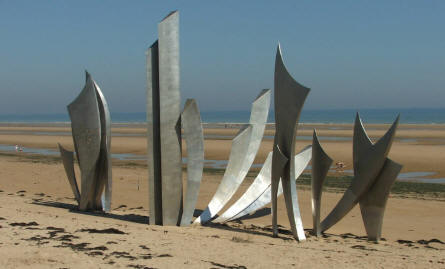 "A ""modern"" D-day memorial at Omaha Beach. Some like it others don't."