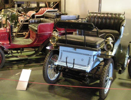 Some of the oldest cars at the La Sarthe 24 hour Automobile Museum at Le Mans.