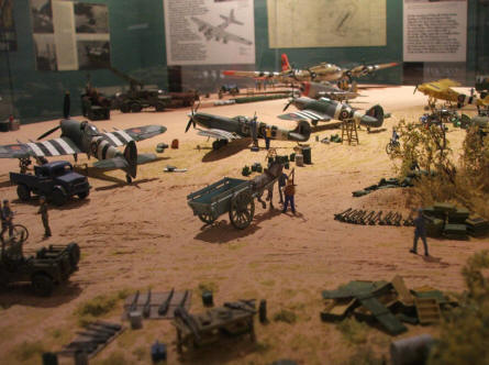 "One of the many dioramas that show details from the battles on and after D-day in the area of Ver sur Mer. America ""Gold Beach"" museum."