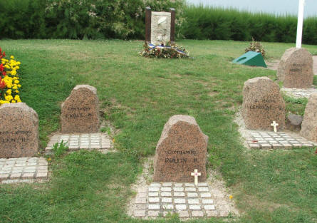 Some of the tomb stones at the French Commando Memorial at Ouistreham.
