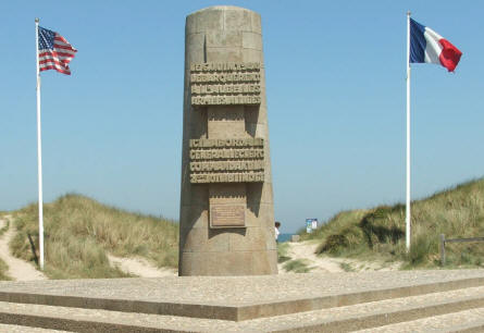 The French memorial at the D-day landing site at Utah Beach.