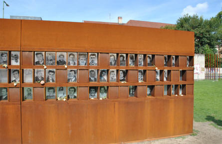 A part of the memorial for the people that were killed at the Berlin Wall can be seen at the Berlin Wall Memorial.