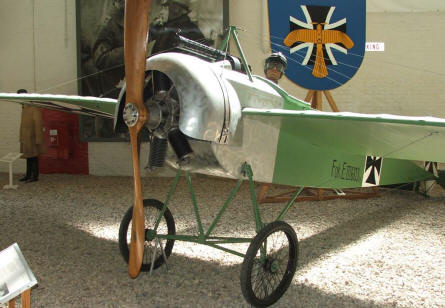 German Fokker monoplane fighter from World War I displayed at the Luftwaffe museum at Gatow.