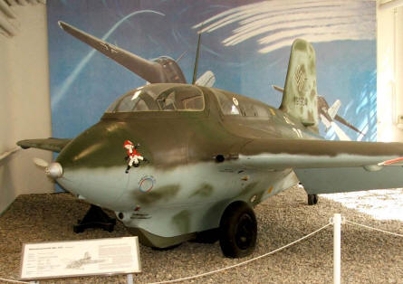 German Messerschmidt Me-163 rocket fighter from World War II displayed at the Luftwaffe museum at Gatow.