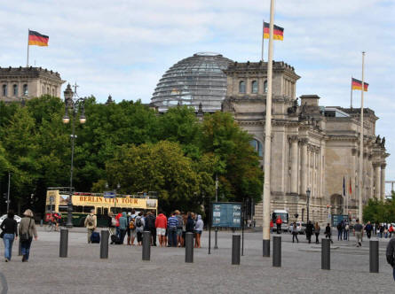 Reichstag building seen from the south west.