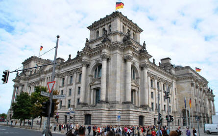 Reichstag building seen from the south west corner.