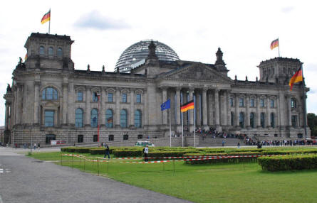 Reichstag building seen from the west.